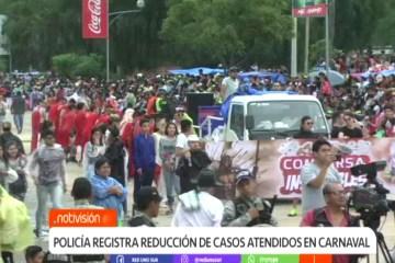 POLICÍA REGISTRA UNA REDUCCIÓN DE CASOS ATENDIDOS EN CARNAVAL