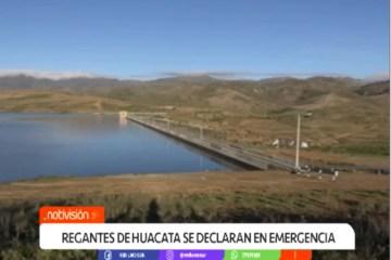 REGANTES DE HUACATA SE DECLARAN EN EMERGENCIA