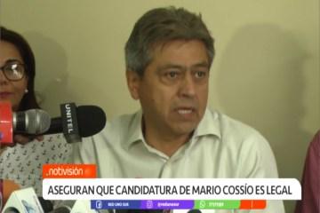 ASEGURAN QUE LA CANDIDATURA DE MARIO COSSÍO ES LEGAL
