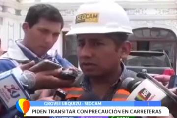 PIDEN TRANSITAR CON PRECAUCIÓN EN CARRETERAS