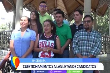 SIN CENSURA: CUESTIONAMIENTOS A LAS LISTAS DE CANDIDATOS