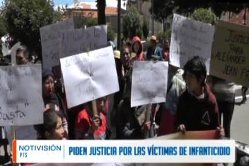 PIDEN JUSTICIA PARA LAS VÍCTIMAS DE INFANTICIDIO