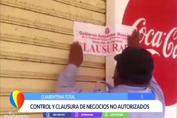 CONTROL Y CLAUSURA DE NEGOCIOS NO AUTORIZADOS
