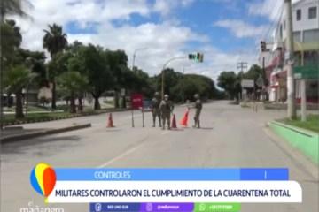 MILITARES CONTROLARON EL CUMPLIMIENTO DE LA CUARENTENA TOTAL