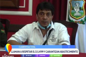 LLAMAN A RESPETAR EL D.S. 4199 Y GARANTIZAN ABASTECIMIENTO