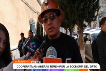 COOPERATIVAS MINERAS TEMEN POR LA ECONOMÍA DEL DEPARTAMENTO