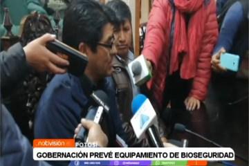 GOBERNACIÓN PREVÉ EQUIPAMIENTO DE BIOSEGURIDAD