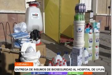 ENTREGA DE INSUMOS DE BIOSEGURIDAD AL HOSPITAL DE UYUNI