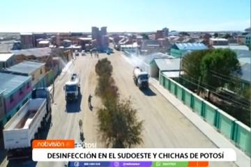"""DESINFECCIÓN EN EL SUDOESTE Y """"CHICHAS"""" DE POTOSÍ"""