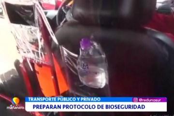 TRANSPORTE PREPARA PROTOCOLO DE BIOSEGURIDAD