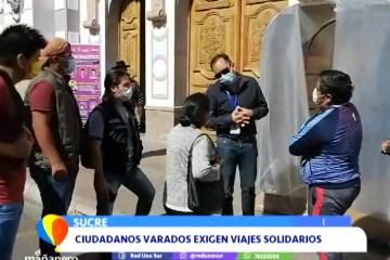 CIUDADANOS VARADOS EXIGEN VIAJES SOLIDARIOS