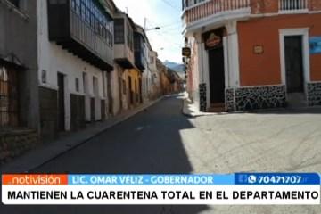 MANTIENEN LA CUARENTENA TOTAL EN EL DEPARTAMENTO