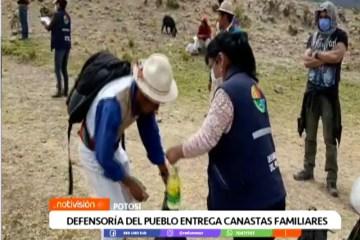 DEFENSORÍA DEL PUEBLO ENTREGA CANASTAS FAMILIARES