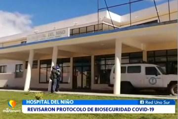 REVISARON PROTOCOLO DE BIOSEGURIDAD EN EL HOSPITAL DEL NIÑO