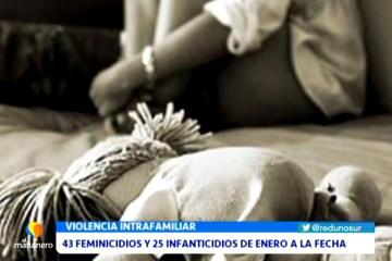 43 FEMINICIDIOS Y 25 INFANTICIDIOS DE ENERO HASTA LA FECHA