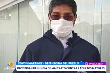 INVESTIGAN DENUNCIA DE MALTRATO CONTRA DOS ADULTOS MAYORES