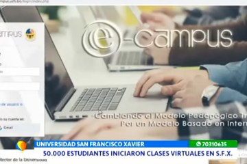50000 ESTUDIANTES INICIARON CLASES VIRTUALES EN USFX