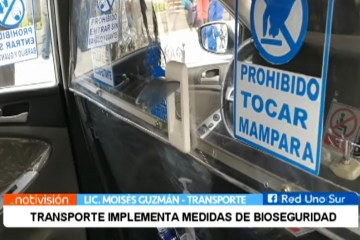 TRANSPORTE IMPLEMENTA MEDIDAS DE BIOSEGURIDAD PARA SU RETORNO