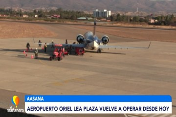 AEROPUERTO ORIEL LEA PLAZA VUELVE A OPERAR DESDE HOY
