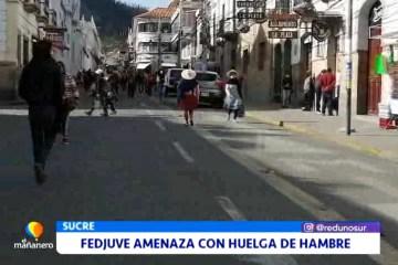 FEDJUVE AMENAZA CON HUELGA DE HAMBRE