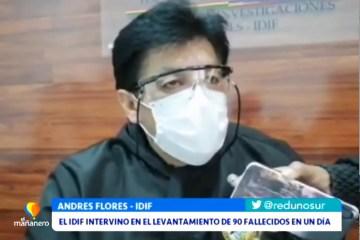 EL IDIF INTERVINO EN EL LEVANTAMIENTO DE 90 FALLECIDOS EN UN DÍA