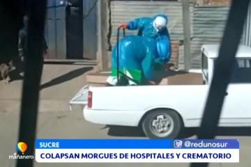 COLAPSAN MORGUES DE HOSPITALES Y CREMATORIO