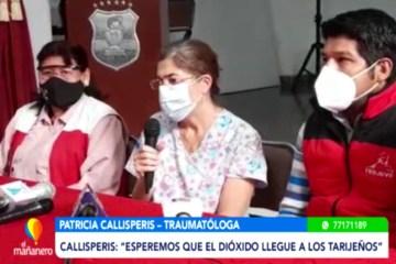 DOCTORA CALLISPERIS LLEGÓ PARA HABLAR CON LOS TARIJEÑOS