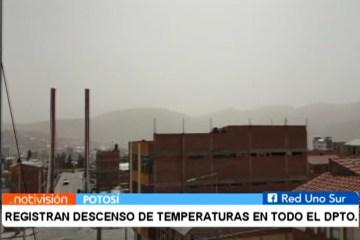 REGISTRAN DESCENSO DE TEMPERATURAS EN TODO EL DEPARTAMENTO