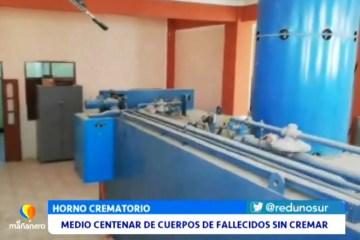 MEDIO CENTENAR DE CUERPOS DE FALLECIDOS SIN CREMAR