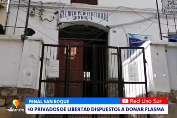 40 PRIVADOS DE LIBERTAD DISPUESTOS A DONAR PLASMA
