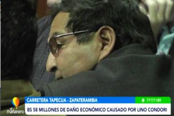 BS. 58 MILLONES DE DAÑO ECONÓMICO CAUSADO POR LINO CONDORI