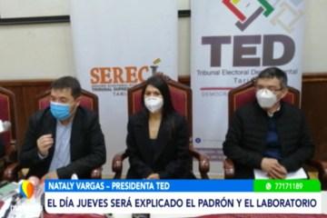 EL OEP PRESENTÓ EL LABORATORIO PRELIMINAR DEL PADRÓN ELECTORAL