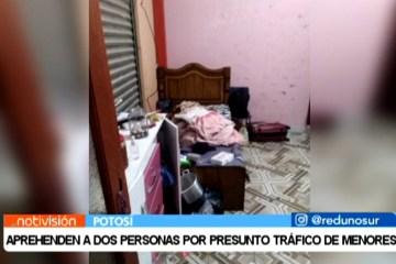 APREHENDEN A DOS PERSONAS POR PRESUNTO TRÁFICO DE MENORES