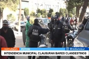 INTENDENCIA MUNICIPAL CLAUSURA BARES CLANDESTINOS