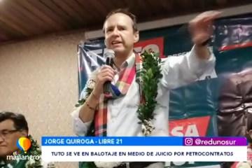 TUTO SE VE EN BALOTAJE EN MEDIO DE JUICIO POR PETROCONTRATOS