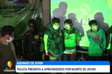 LA POLICÍA PRESENTÓ A LOS APREHENDIDOS POR LA MUERTE DE JOVEN