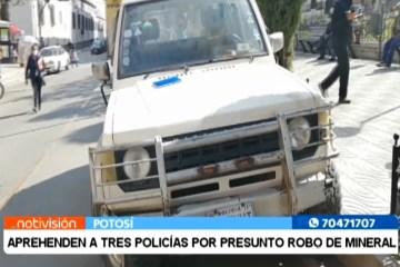 APREHENDEN A TRES POLICÍAS POR PRESUNTO ROBO DE MINERAL