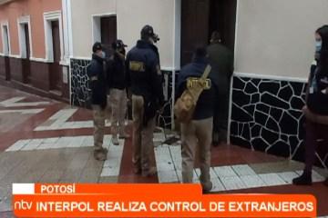 INTERPOL REALIZA CONTROL DE EXTRANJEROS