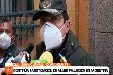 CONTINÚA LA INVESTIGACIÓN SOBRE BOLIVIANA FALLECIDA EN ARGENTINA