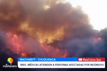 BRIGADAS MÉDICAS ATIENDEN A PERSONAS AFECTADAS POR INCENDIOS