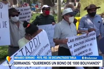 DISCAPACITADOS PIDEN REDISTRIBUCIÓN DE RECURSOS