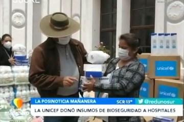 POSINOTICIA: UNICEF DONÓ INSUMOS DE BIOSEGURIDAD A HOSPITALES