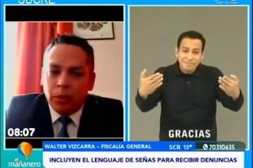 POSINOTICIA: INCLUYEN LENGUAJE DE SEÑAS PARA RECIBIR DENUNCIAS LEGALES