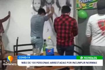 MÁS DE 100 PERSONAS ARRESTADAS EN OPERATIVOS