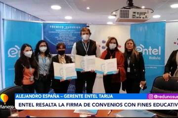 FIRMA DE CONVENIO ENTRE ENTEL, ITDS Y UPDS