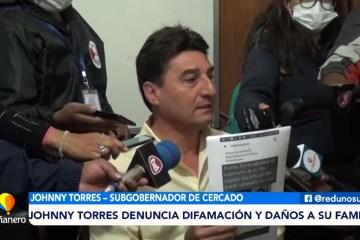 JOHNNY TORRES DENUNCIA DIFAMACIÓN Y DAÑO A SU FAMILIA