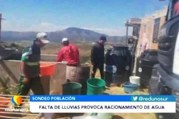 FALTA DE LLUVIAS PROVOCA RACIONAMIENTO DE AGUA