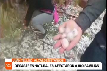 DESASTRES NATURALES AFECTARON A 800 FAMILIAS