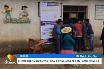 EL EMPADRONAMIENTO LLEGA HASTA COMUNIDADES EN LOMO DE MULA