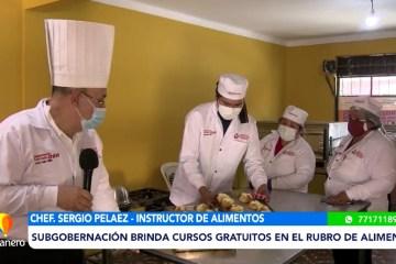 POSINOTICIA: SUBGOBERNACIÓN BRINDA CURSOS GRATUITOS EN EL RUBRO DE ALIMENTOS